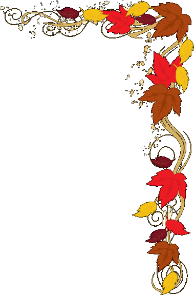 Fall leaves corner border png. Autumn clip art x