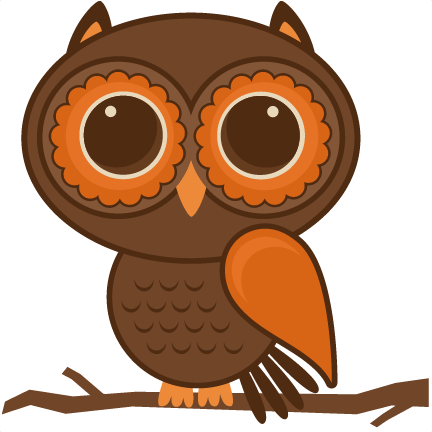 Fall owl png. Set svg files for