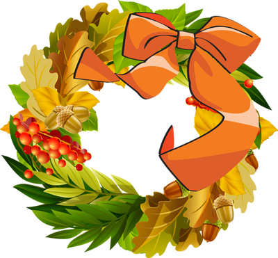 Fall wreath png