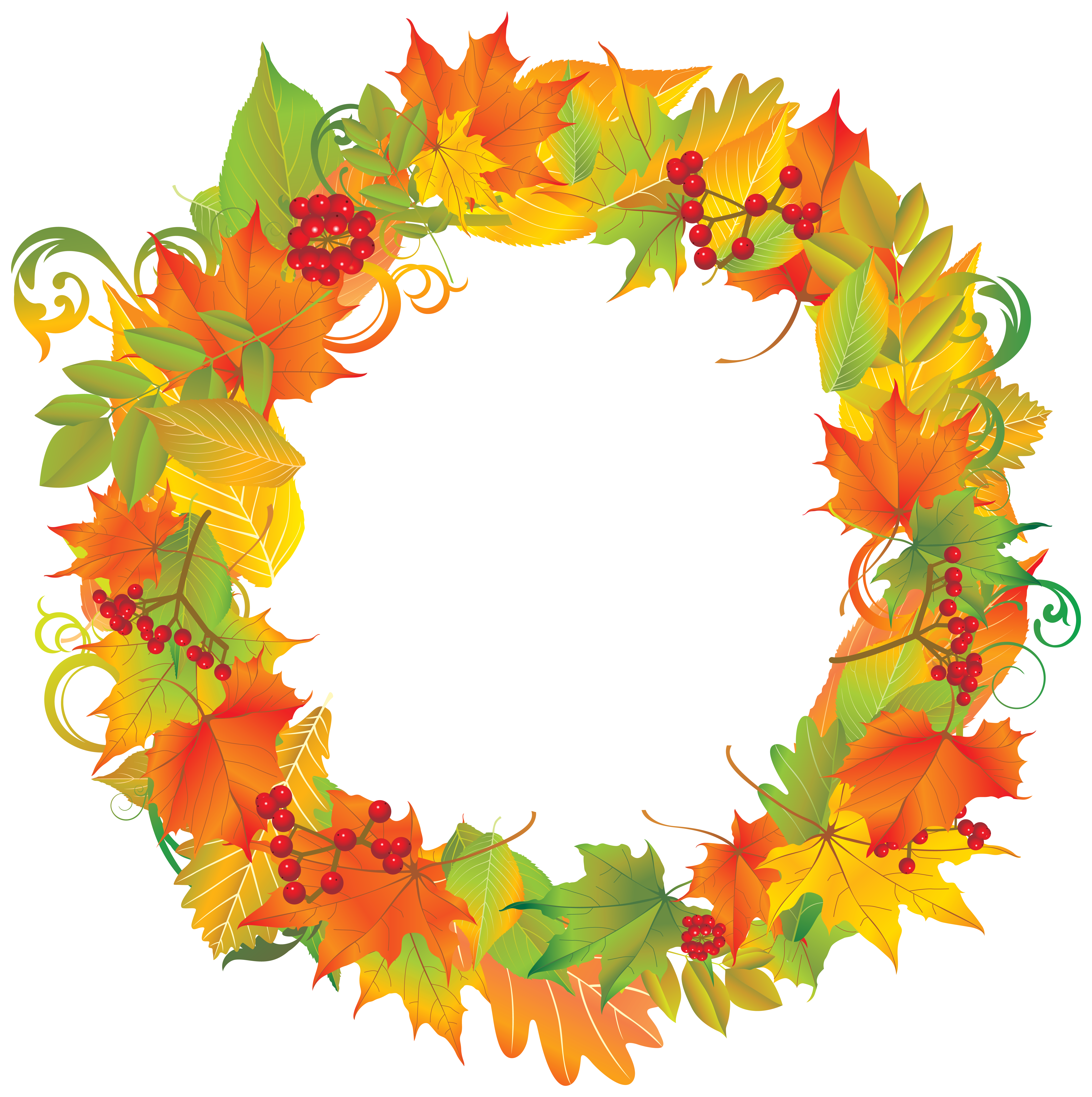Fall wreath png. Autumn clipart image gallery