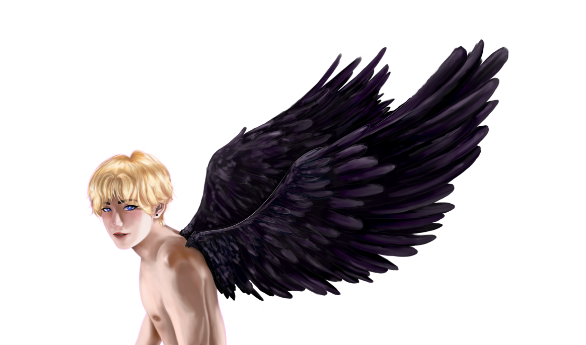 Falling angel feathers png. The fallen no bg