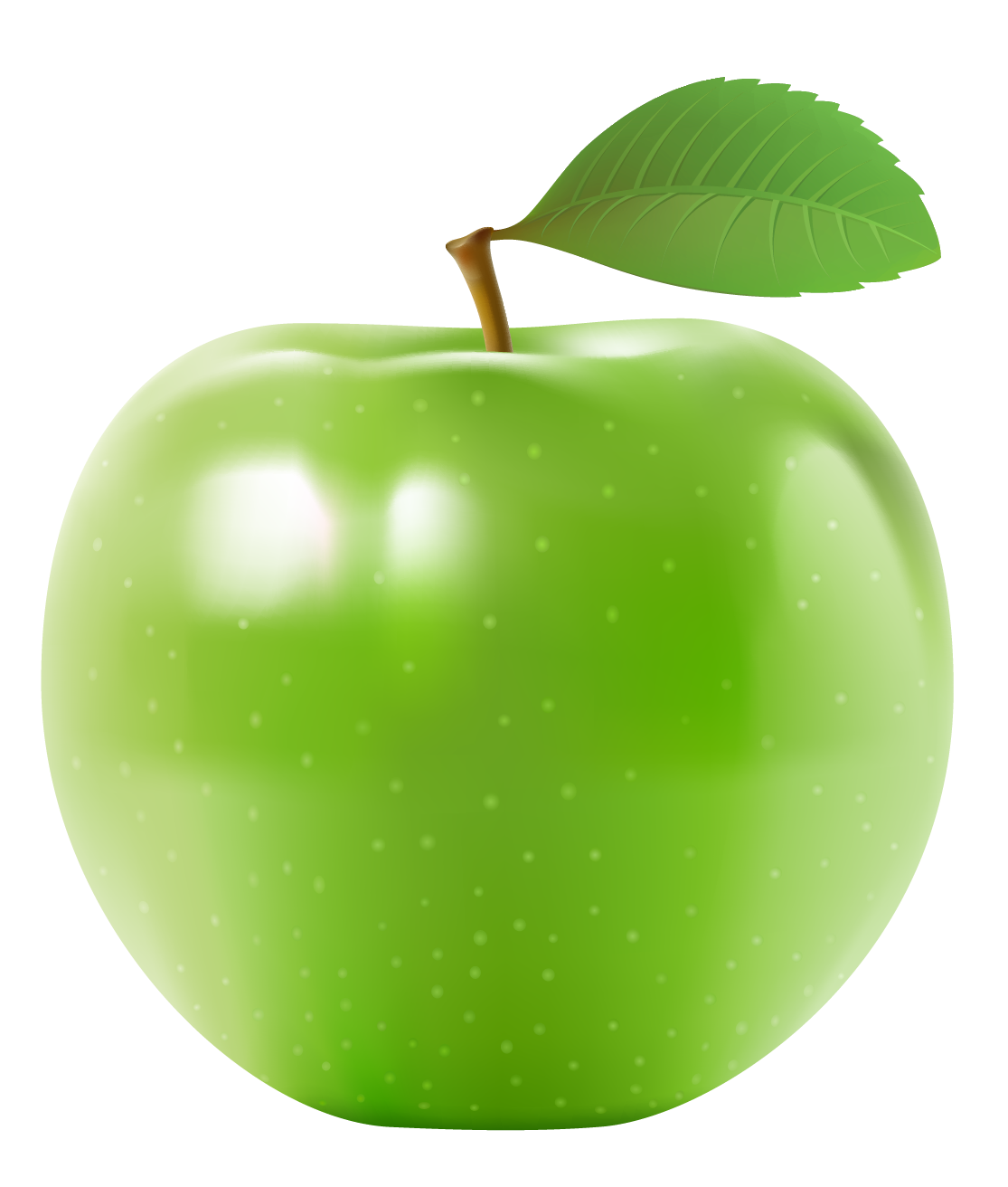 Fruits and nuts images. Green apples png stock
