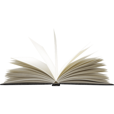 Open transparent stickpng. Book writing png banner black and white