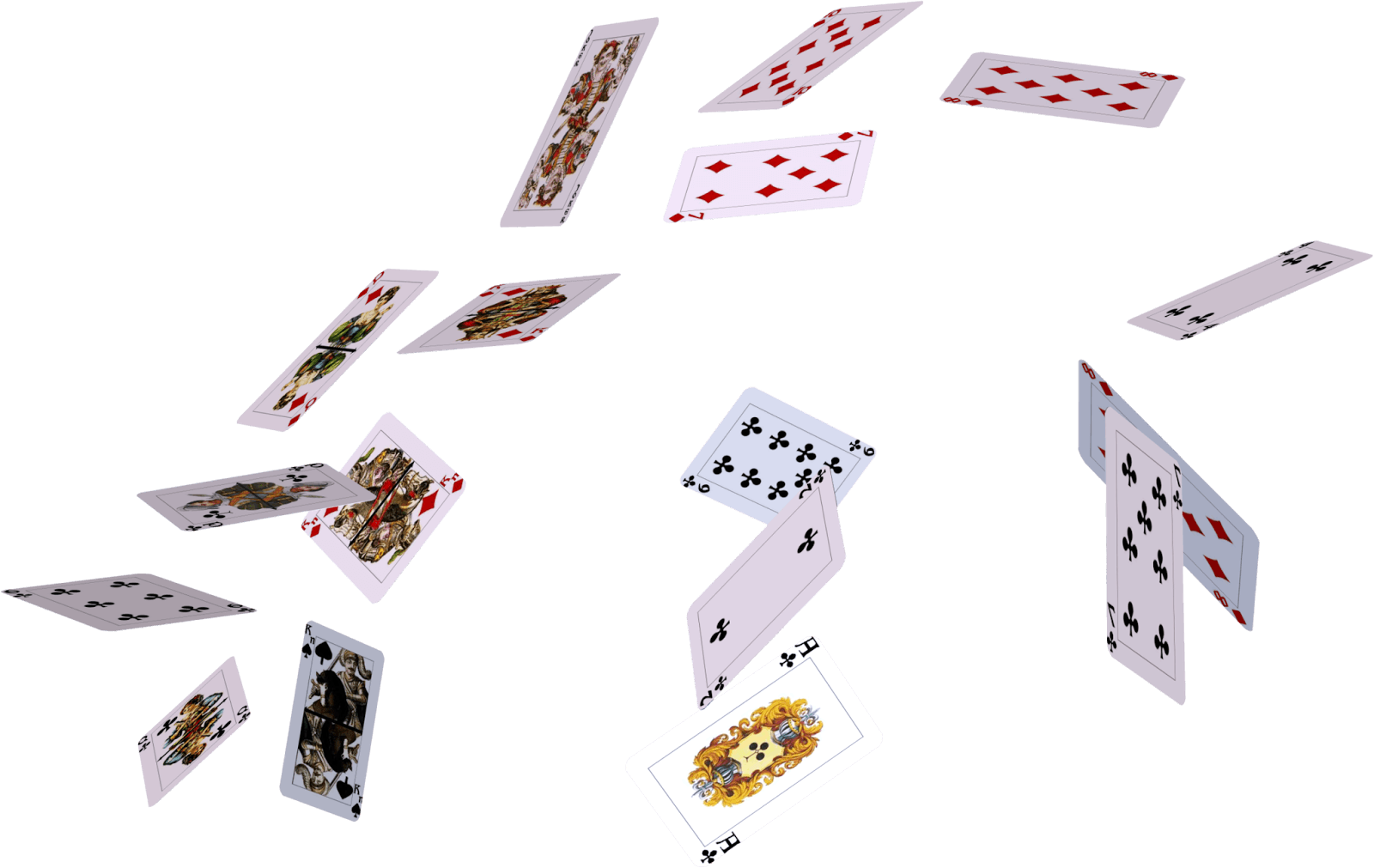 Falling cards png. Download flying hq image