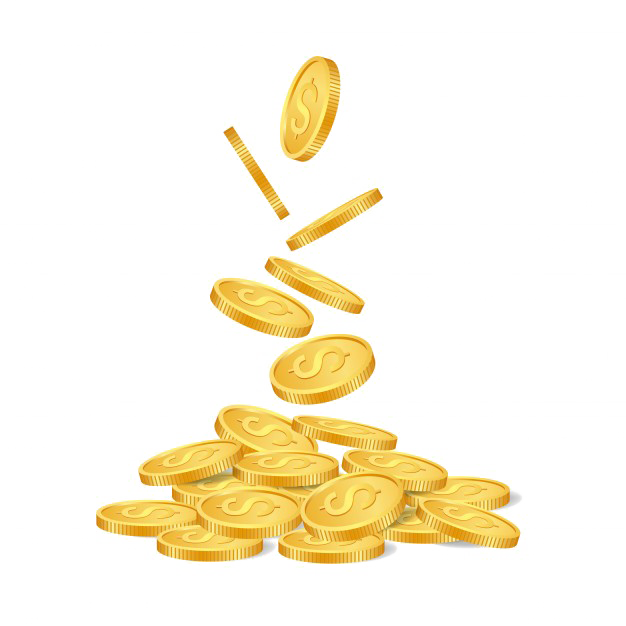 Falling coins png. Photo mart