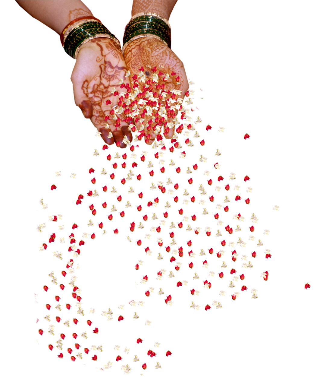 Falling flowers png. Indian wedding hand peoplepng