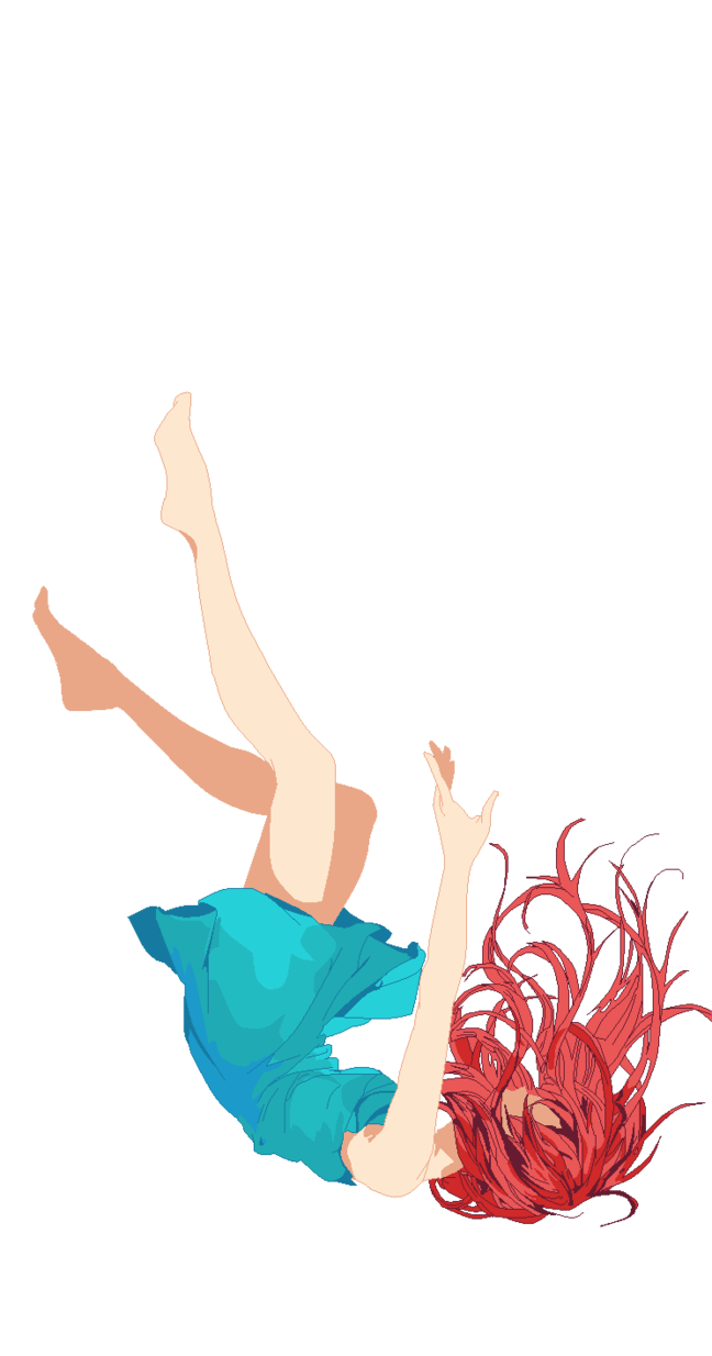 Falling girl png. Base by british bases