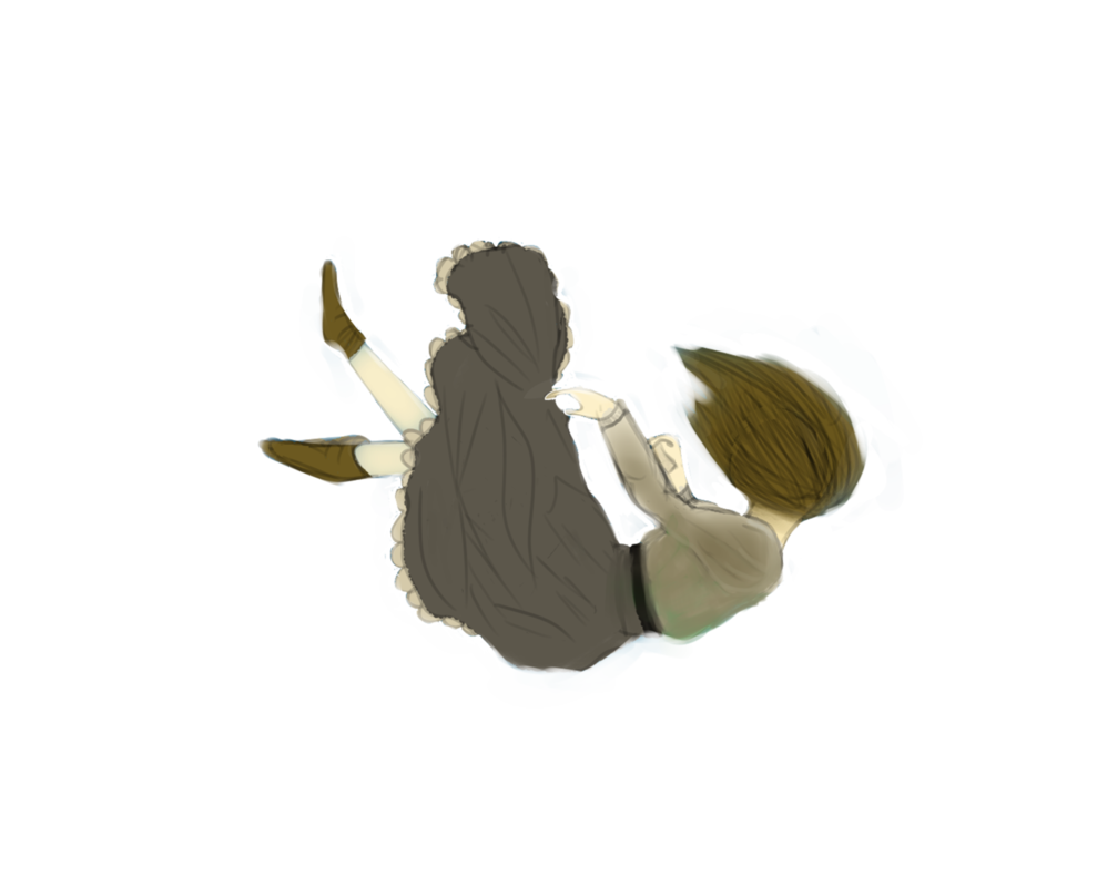Falling girl png. Without background by audreyjaynne