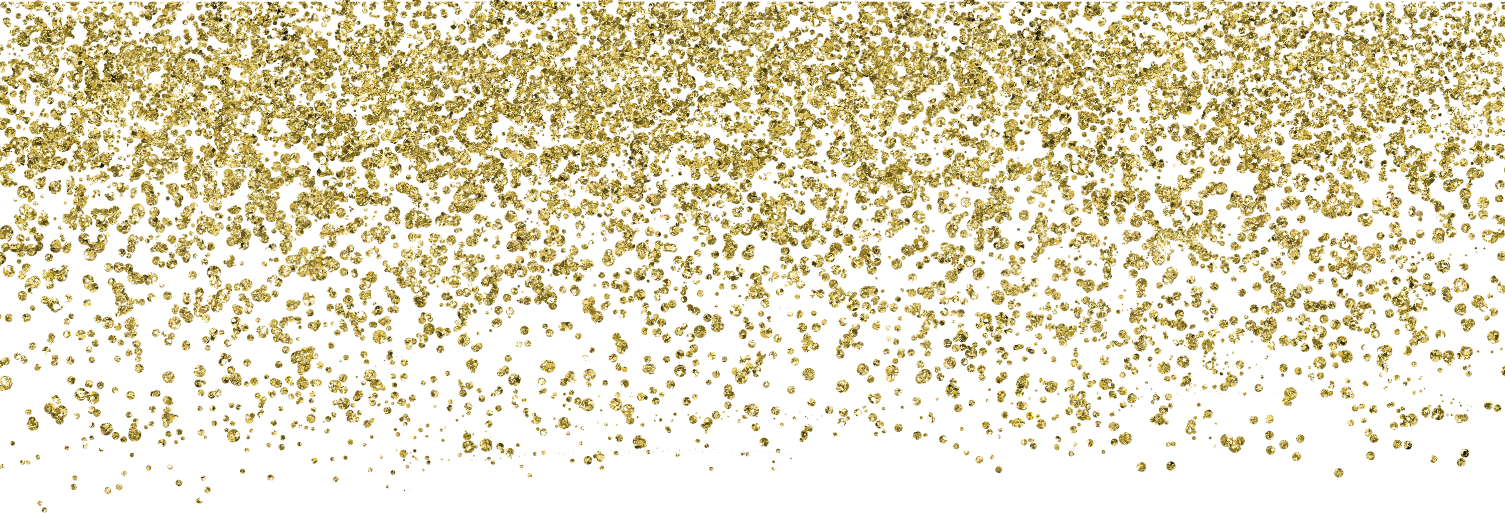Falling gold glitter png.