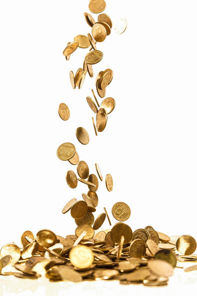 Falling gold coins png. Free download mart