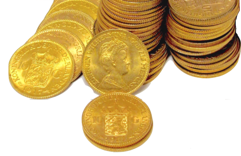 Falling gold coins png. A bad week but