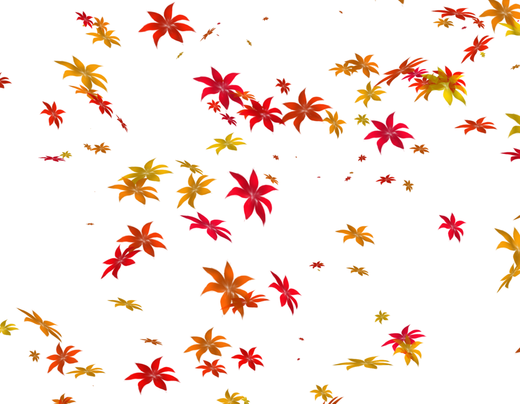 Falling leaves png transparent. Flowers by theartist on