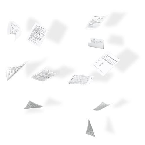 Falling paper png. Flying papers