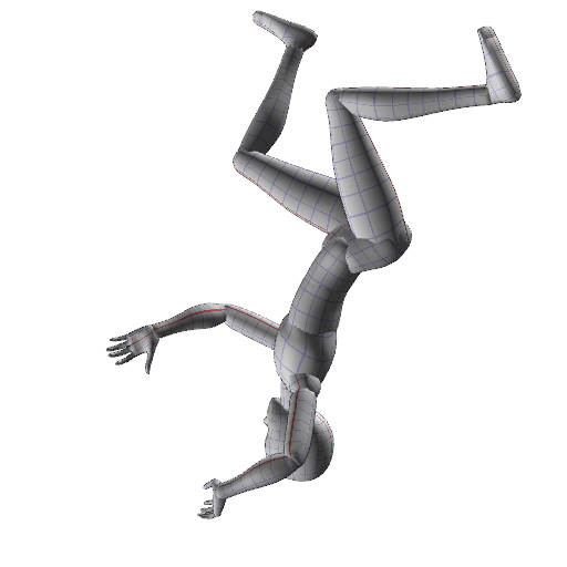 Falling person png. By freezingfeather pose on