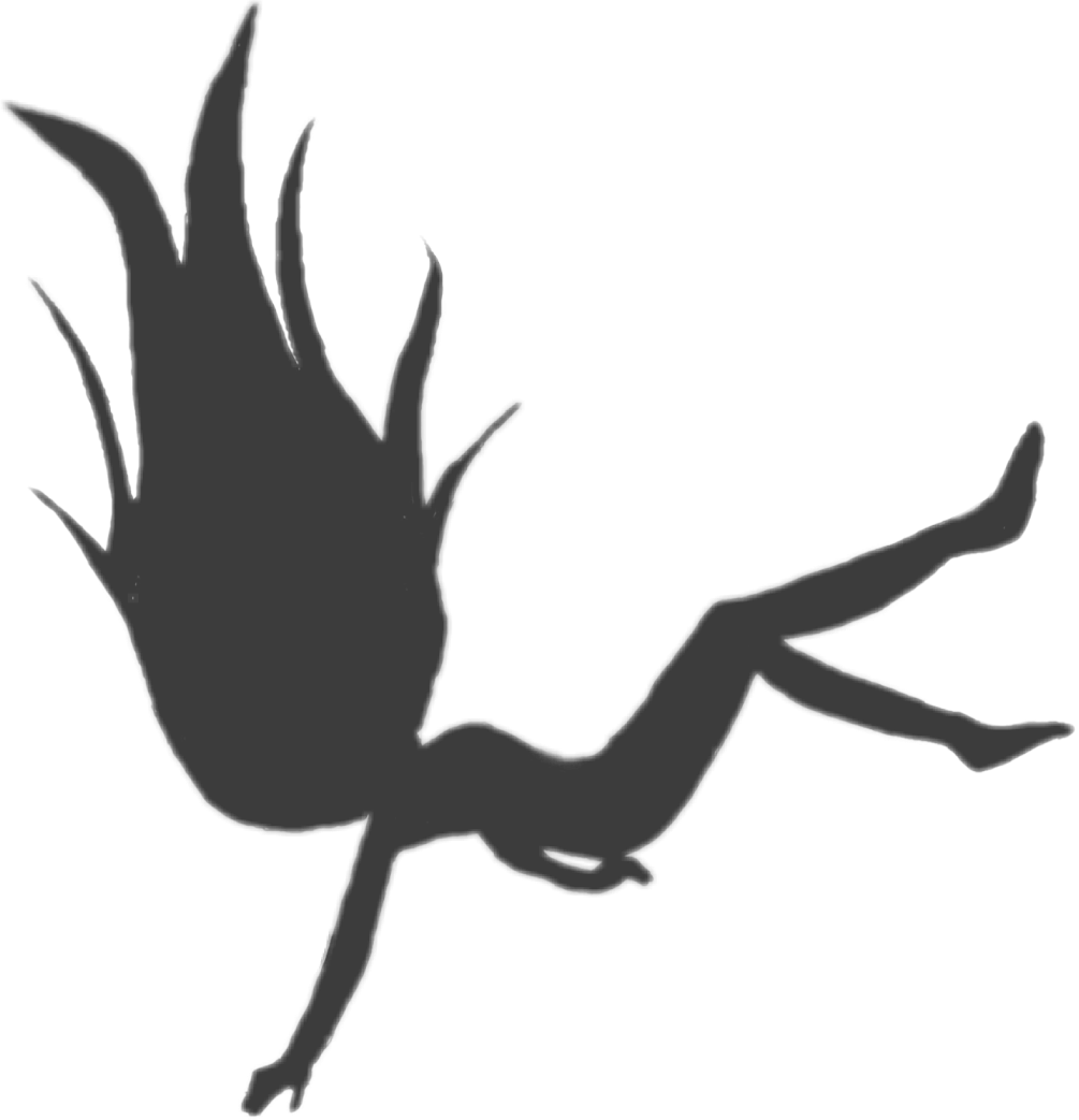 Falling silhouette png. Ftestickers girl