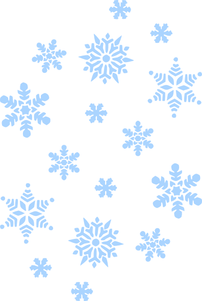 Falling snowflakes png. Blue snow clip art