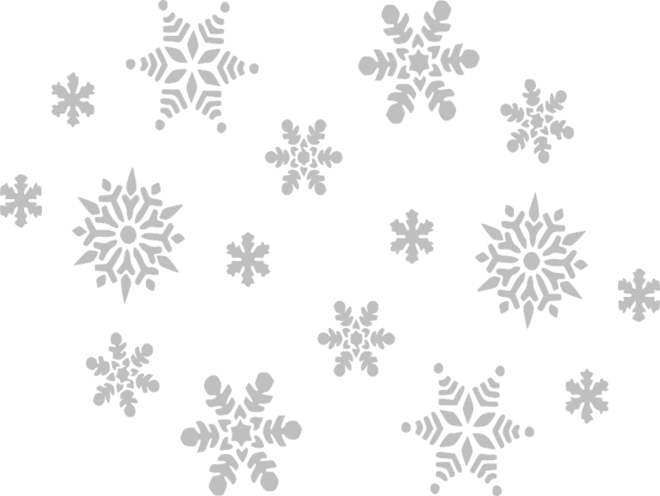 Falling snowflakes png. Winter snow transparent images
