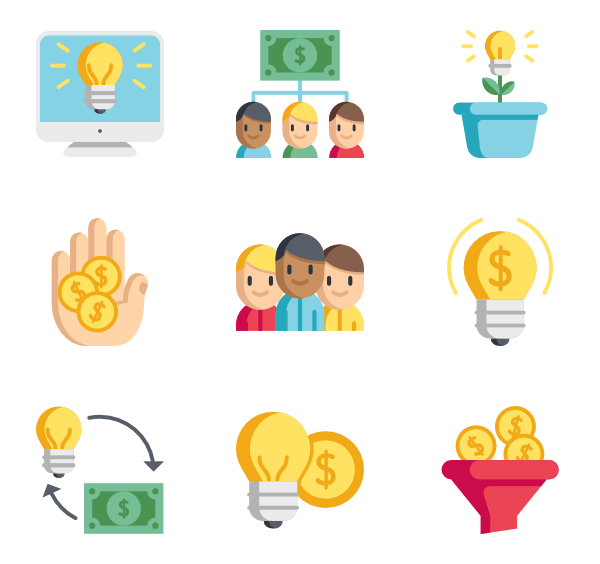 Vector coin crypto. Icons free crowdfunding
