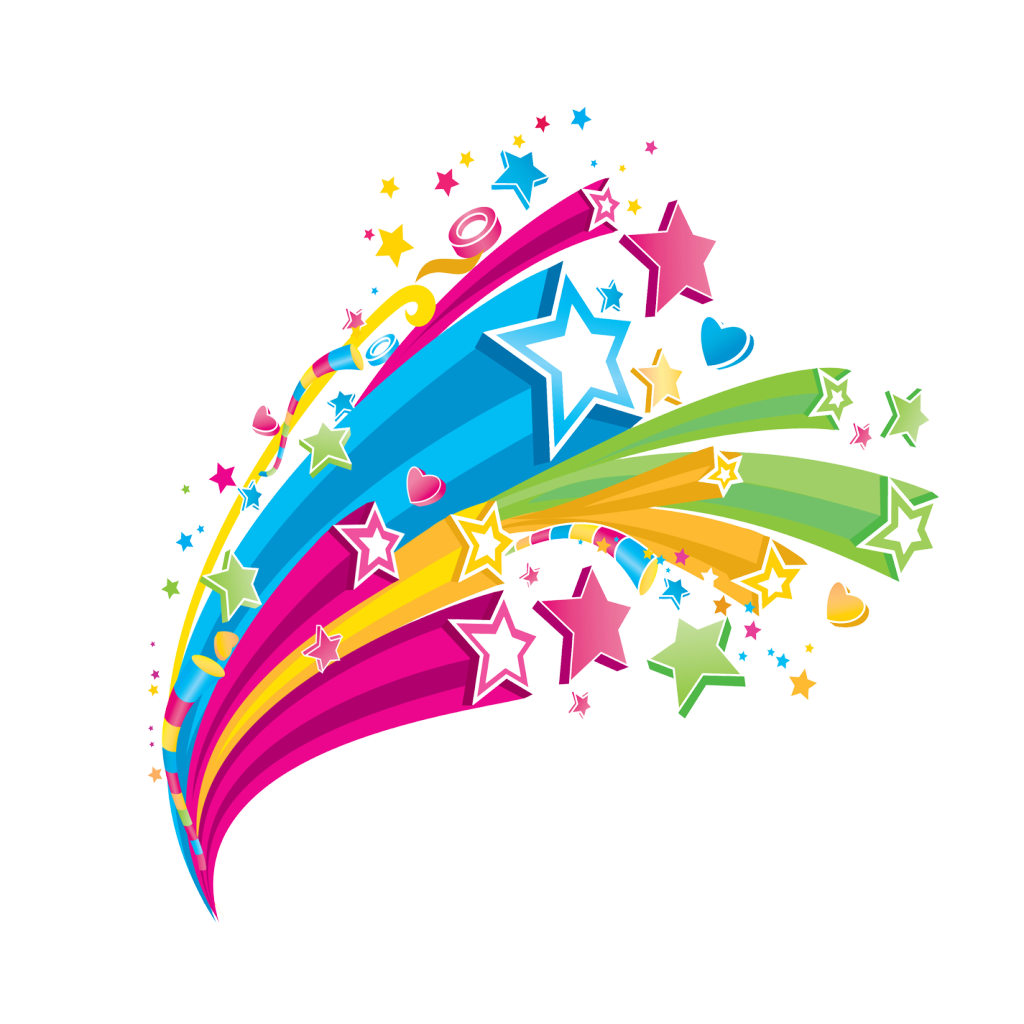 Quotes vector colourful. Falling star transparent
