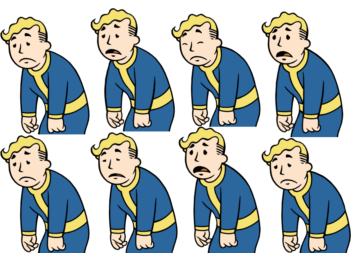 Guy taking notes png. Image vaultboy animationshappynesslow fallout
