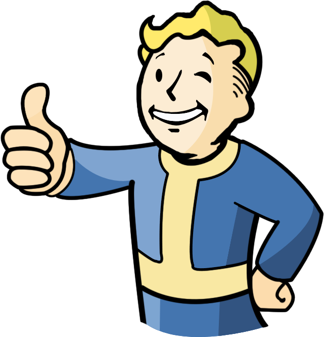 Vault boy thumbs up png