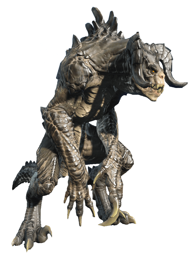 Fallout 4 character png. Deathclaw transparent stickpng download