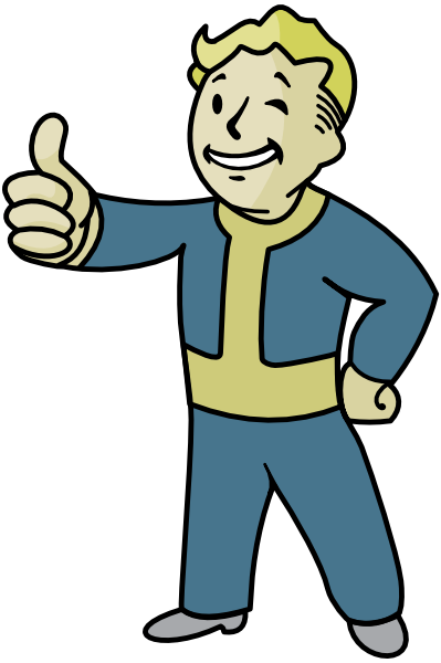 Fallout 4 character png. Pipboy vector graphic for