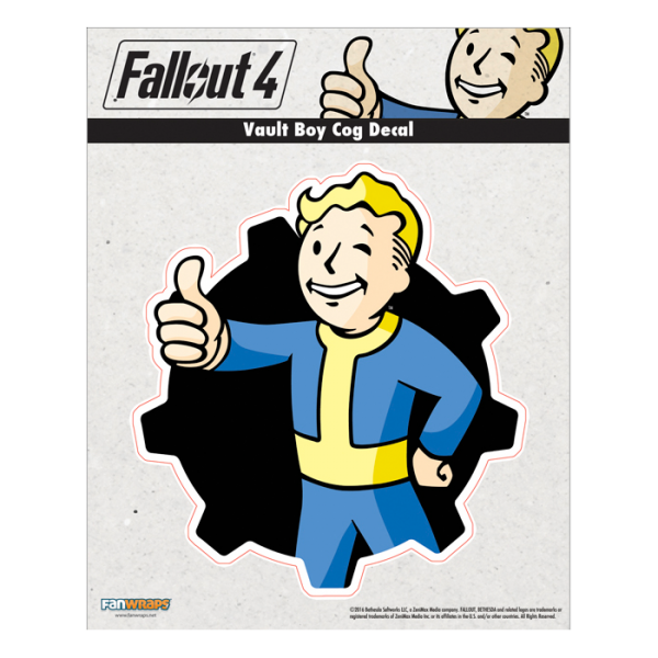 Fallout 4 png 101 decal. Vault boy cog official