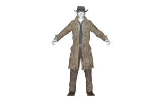 Nick valentine png. Faded trench coat the