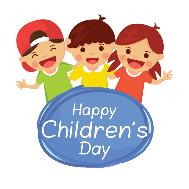 Goal vector abstract. Childrens day kids happy