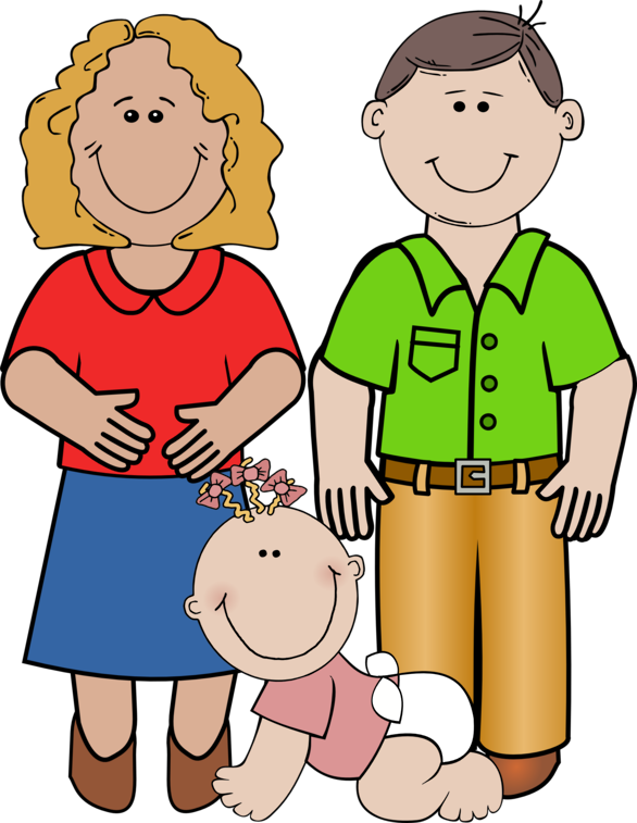 Young clip cliparts. Free family images download