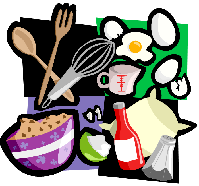Cook clipart ingredient. Family book bag cooking