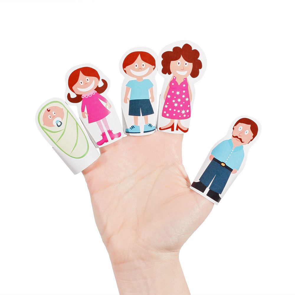Families clipart puppet. Finger family paper puppets