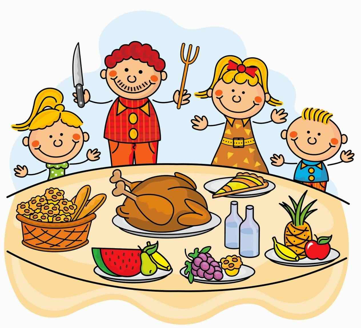 families clipart thanksgiving