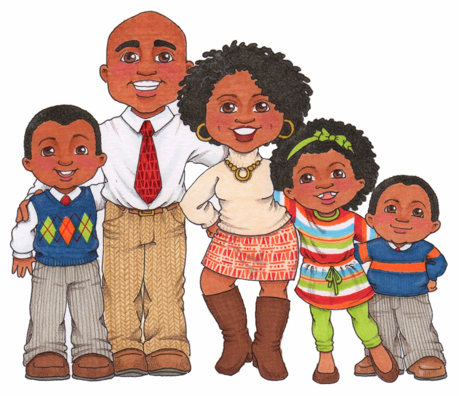 Families clipart. Susan fitch design are