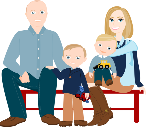 Family cartoon png. To people drawing