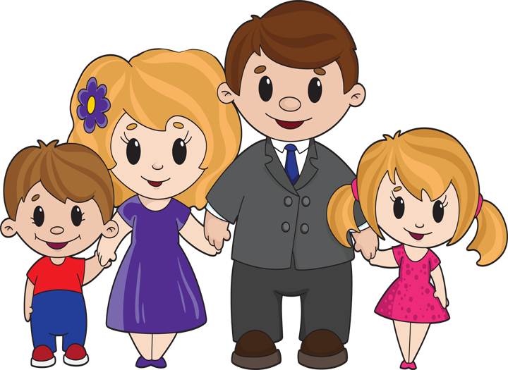 Family cartoon png. Happy pinterest parents familypng