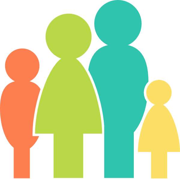 Family png clipart. Multicolor clip art at