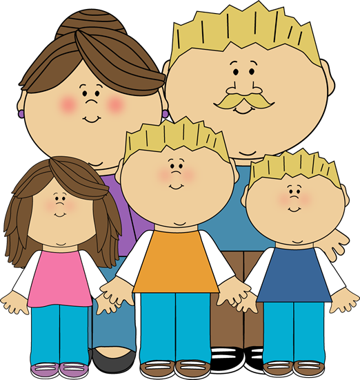 figure clipart 7 person family