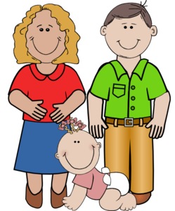 Family clipart. Smiling clip art at
