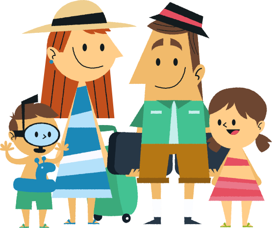 Family clipart. Png image
