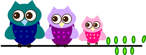 Family clipart. Owl on branch clip