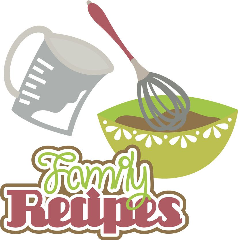 Family clipart cookbook. Pin by cindy deters