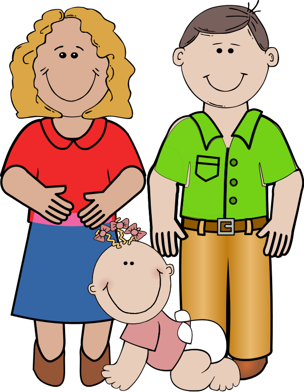 Free image of family. Parents clipart cartoon svg library stock
