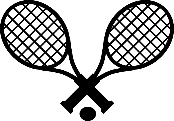 Racket clipart lawn tennis. Ball outline library free