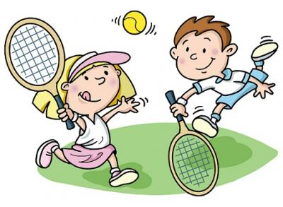 family clipart tennis