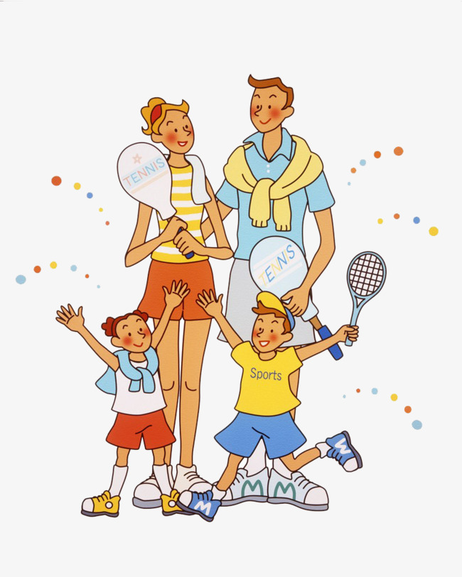 Family clipart tennis. To do exercise excercise