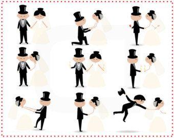 Family clipart wedding. Stick figure people love
