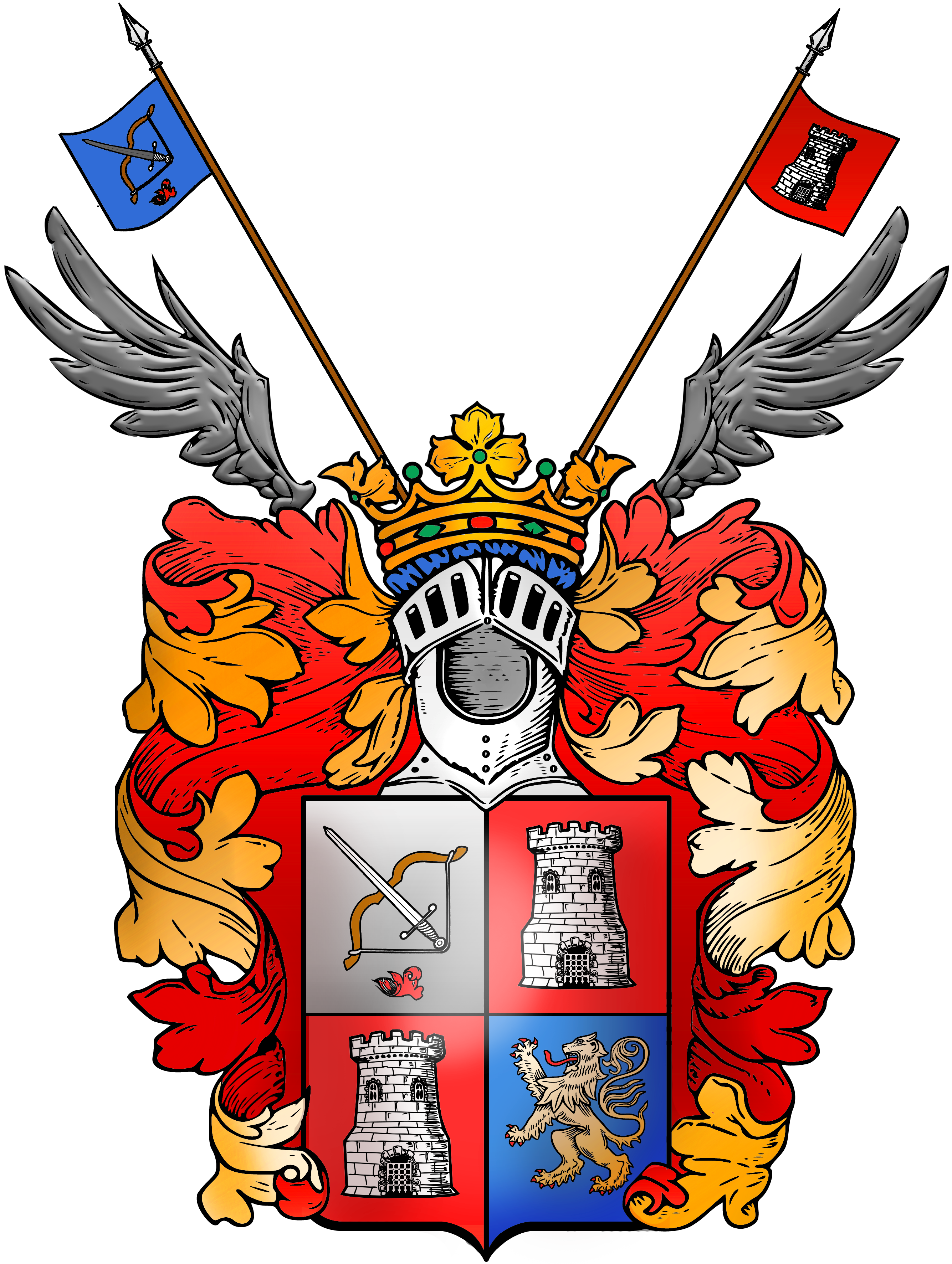 File simon kozhin color. Family crest png png royalty free
