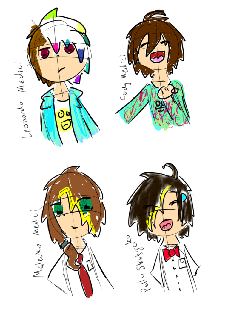 Family doodle png. Oc medici doodles by
